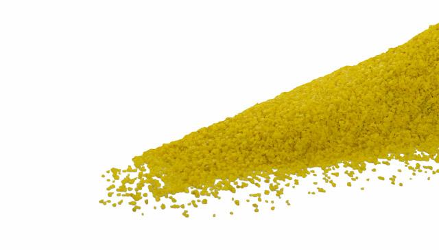 Dekorační štěrk žlutý, hrubost: 1–1,5 mm, balení: 0,5kg