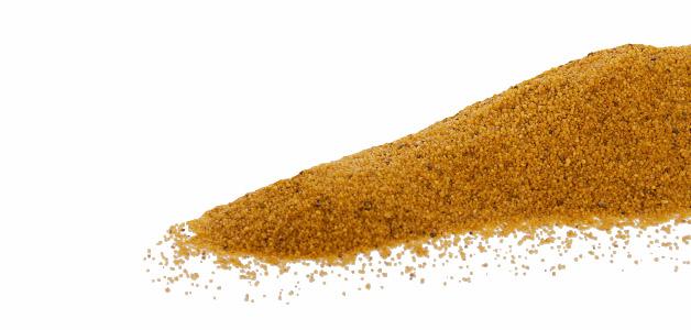 Křemičitý písek žlutý, hrubost: 0,3–1,4 mm, balení: 2kg