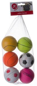 Gumové míčky v síťce mix, 6 ks